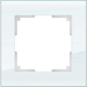 Рамка Werkel Favorit натуральное стекло WL01-Frame-01 рамка электроустановочная werkel на 5 постов белый стекло wl01 frame 05 белый