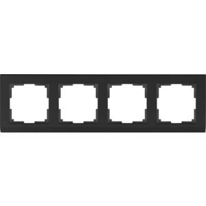 Рамка Werkel Stark черный WL04-Frame-04-silver/black