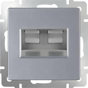 Розетка двойная Ethernet RJ-45 Werkel серебряный WL01-AUDIOx4