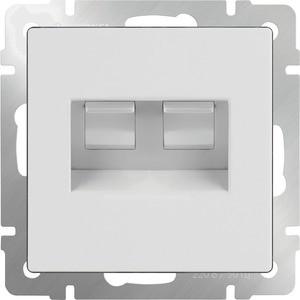 Розетка Werkel Ethernet двойная RJ-45, белая WL01-RJ45+RJ45