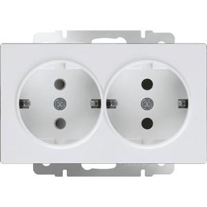 Купить Розетка двойная с заземлением Werkel белая WL01-SKG-02-IP20 в ... 70874bb2ca5