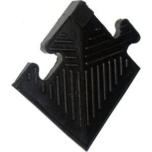 Уголок резиновый MB Barbell для бордюра 20 мм черный купить недорого низкая цена  - купить со скидкой