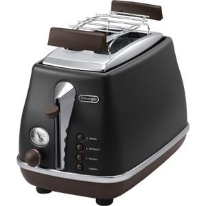 Тостер DeLonghi CTOV 2103.BK тостер de longhi ctoe 2103 bl icona elements синий