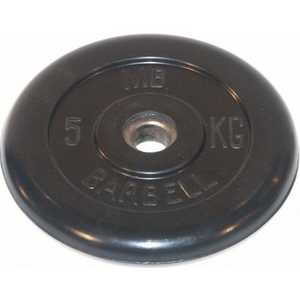 Диск обрезиненный MB Barbell 31 мм 5 кг черный Стандарт