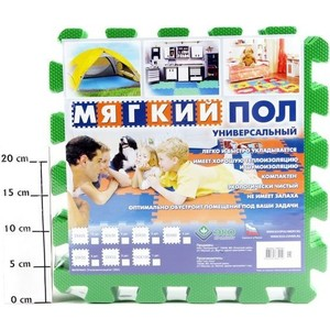 Мягкий пол Eco-cover универсальный 33х33(см) зелёный 9 деталей УТ000000464