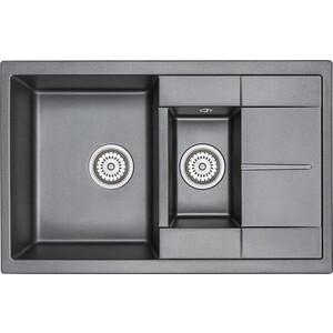 Кухонная мойка Granula GR-7802 черный кухонная мойка granula gr 4801 415х490 черный