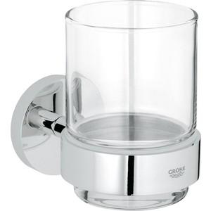 Стакан для ванны Grohe Essentials с держателем, цвет хром (40447001)