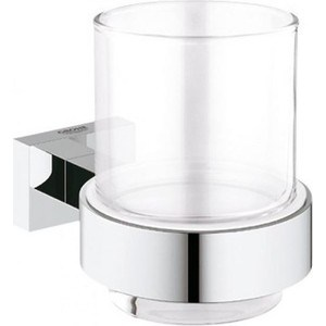 Стакан для ванны Grohe Essentials Cube с держателем (40755001)