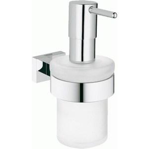 Дозатор для жидкого мыла Grohe Essentials Cube с держателем (40756001)