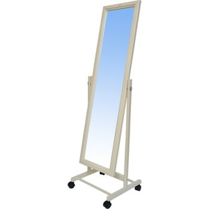 купить Зеркало напольное Мебелик В 27Н слоновая кость по цене 3170 рублей