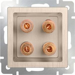 Акустическая розетка Werkel шампань рифленая WL10-AUDIOx4