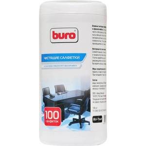 Чистящие средство Buro BU-Tsurl чистящие салфетки для пластиковых поверхностей и офисной мебели, туба 100шт