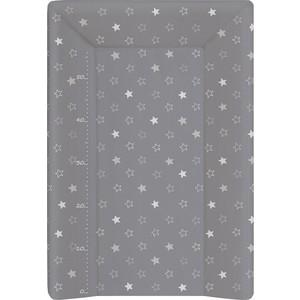 Матрас пеленальный Ceba Baby (Себа Беби) 70 см с изголовьем на кровать 120*60 Stars dark grey W-201-066-265