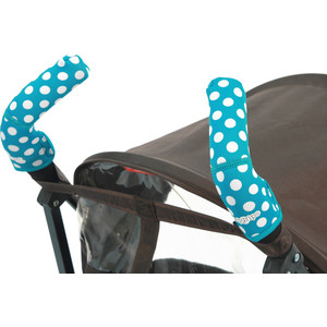 Чехлы Choopie CityGrips (Сити Грипс) на ручки для коляски-трости 369/4202 polka-dot aqua
