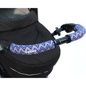 Чехлы Choopie CityGrips (Сити Грипс) на ручку для универсальной коляски длинные 508/9310 Chevron Baby Blue