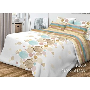 цена на Комплект постельного белья Волшебная ночь Евро, ранфорс, Wood с наволочками 50x70 (701956)
