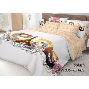 цена на Комплект постельного белья Волшебная ночь Евро, ранфорс, Splash с наволочками 50x70 (702199)