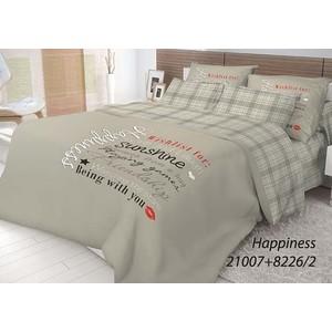 Комплект постельного белья Волшебная ночь 2-х сп, ранфорс, Happiness с наволочками 70x70 (702217)