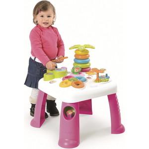 Игровой стол Smoby развивающий, розовый, 47х47х49см