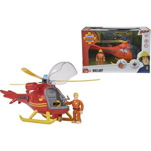 Набор Simba Пожарный Сэм, Вертолет со светом, звуком, акс. + фигурка, 24см
