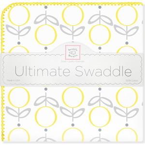 купить Пеленка фланель для новорожденного SwaddleDesigns Ultimate Lolli Fleur Yellow по цене 1479 рублей