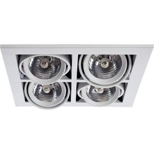 Встраиваемый светильник Arte Lamp A5930PL-4WH встраиваемый светильник artelamp a5930pl 3bk