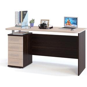 Стол компьютерный СОКОЛ КСТ-105.1 венге/дуб беленый сокол мебель кст 105 венге