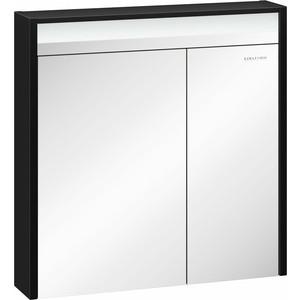 Зеркальный шкаф Edelform Карино 74x74,8 черный эбони (2-751-43-S)