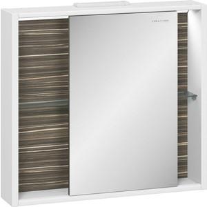 Зеркальный шкаф Edelform Белль 75x68,4 макассар (2-762-44-S)
