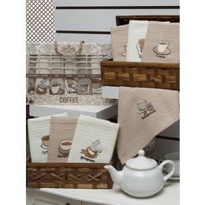 Набор кухонных полотенец Meteor Неделька кофе вафельное 40x60 7 штук (8251)