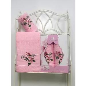 Набор из 2 полотенец Merzuka Sakura garden (50х80/70х130) (8978 светло-розовый)