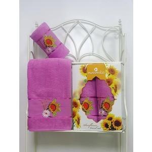 Набор из 2 полотенец Merzuka Sunflower (50х80/70х130) (8979 светло-лиловый) цена