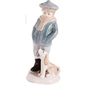 Керамическая фигурка Snowmen мальчик с собакой 19 см (Е92352)