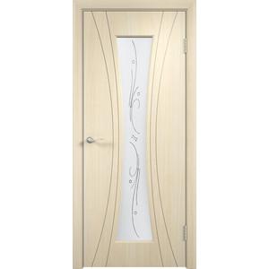 Дверь VERDA Богемия остекленная 2000х700 ПВХ Дуб белёный