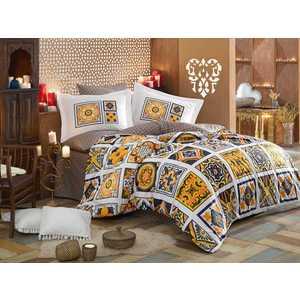 Комплект постельного белья Hobby home collection Евро, поплин, Mozaique, желтый (1607000138)