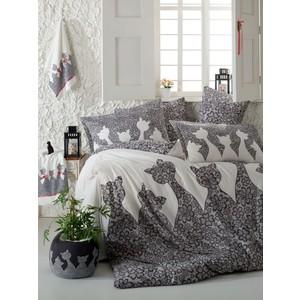 цена Комплект постельного белья Hobby home collection Евро, поплин, Jazz, черный (1607000136) онлайн в 2017 году