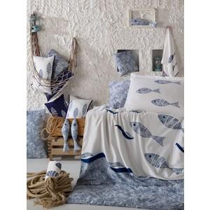 цена Комплект постельного белья Hobby home collection 1,5 сп, поплин, Blues, голубой (1607000134) онлайн в 2017 году