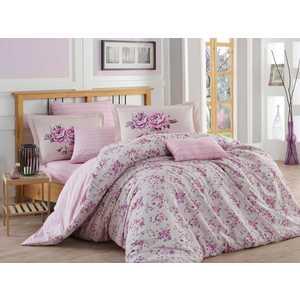 Комплект постельного белья Hobby home collection 1,5 сп, поплин, Flora, лиловый (1501001089)