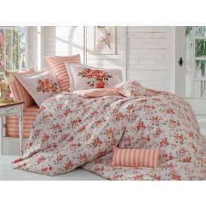 Комплект постельного белья Hobby home collection 1,5 сп, поплин, Flora, персиковый (1501001090)