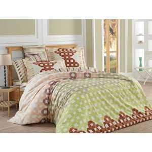 цена Комплект постельного белья Hobby home collection 1,5 сп, поплин, Marcella, коричневый (1501001093) онлайн в 2017 году