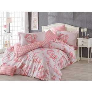 цена Комплект постельного белья Hobby home collection 1,5 сп, поплин, Vanessa, розовый (1501001099) онлайн в 2017 году