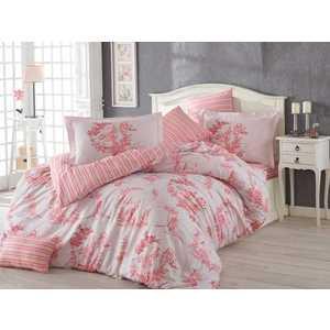 Комплект постельного белья Hobby home collection Евро, поплин, Vanessa, розовый (1501001126)