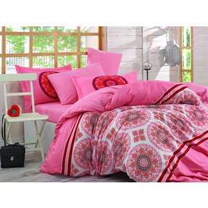 цена Комплект постельного белья Hobby home collection 1,5 сп, поплин, Silvana, коралловый (1501001097) онлайн в 2017 году
