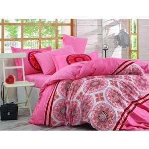 цена Комплект постельного белья Hobby home collection 2-х сп, поплин, Silvana, коралловый (1607000085) онлайн в 2017 году