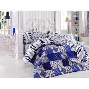 цена Комплект постельного белья Hobby home collection 1,5 сп, поплин, Clara, синий (1501001085) онлайн в 2017 году