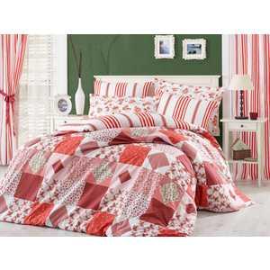 цена Комплект постельного белья Hobby home collection Евро, поплин, Clara, красный (1501001112) онлайн в 2017 году