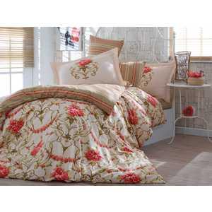 Комплект постельного белья Hobby home collection 1,5 сп, поплин, Ornella, золотой (1501001095)
