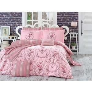 цена Комплект постельного белья Hobby home collection 1,5 сп, поплин, Ornella, розовый (1501001096) онлайн в 2017 году