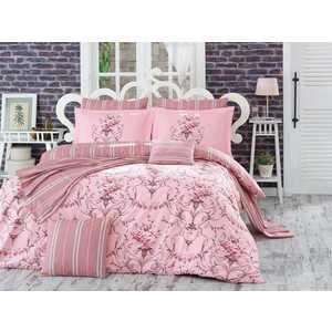 Комплект постельного белья Hobby home collection Евро, поплин, Ornella, розовый (1501001123)