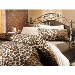 цена Комплект постельного белья Hobby home collection 1,5 сп, поплин, Adriana, коричневый (1501000022) онлайн в 2017 году